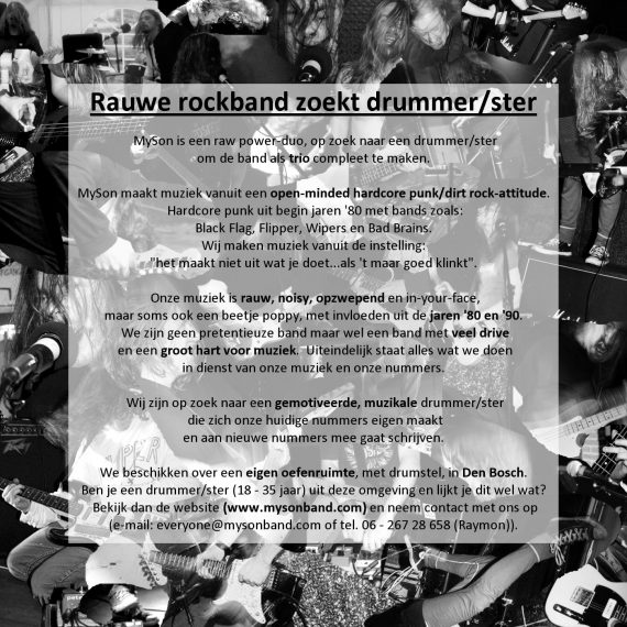 Drummer advert